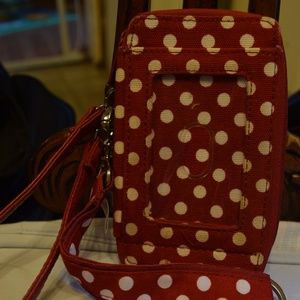 Thirty One Wristlet, Cell Phone, Keys, Cards